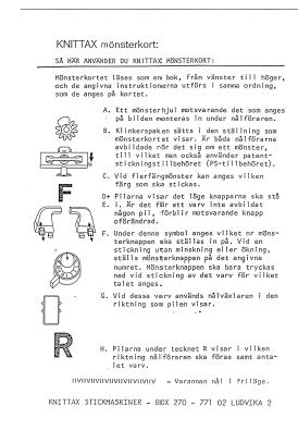 Knittax AM3 Muster Karten 17-50