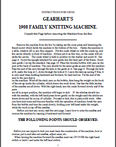Gearhart 1914b Instruction Manual