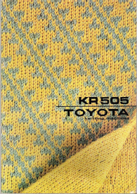 Toyota KR505 Ribber User Manual