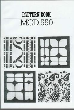 Knitmaster 550 Pattern Manual