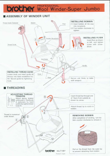Brother KA-7197 Super Jumbo Bobbin Winder User Manual