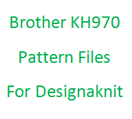 Brother KH970 Pattern Files for Designaknit