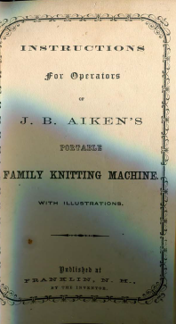 Aikens Family Knitting Machine