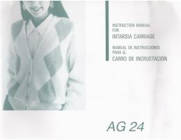 AG24 Intarsia Carriage User Manual