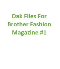 Brother Fashion Magazine 01 Files for Designaknit
