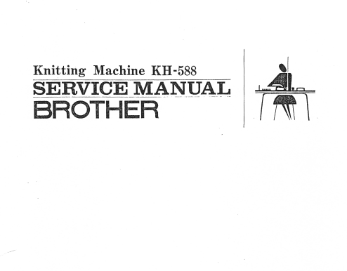 Brother KH588 Service Manual