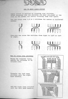Bond How To Knit Cables