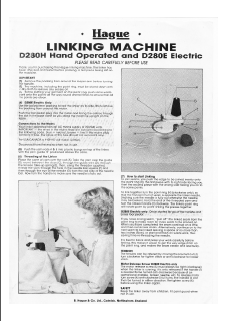 Hague D2890H-D280E Linker Manual