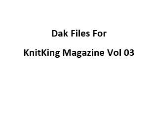 KnitKing Vol 03 Files for Designaknit