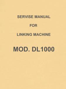 Singer-Knitking DL1000 Linker Service Manual