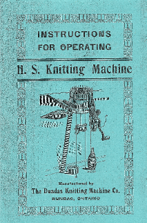 Dundas Knitting Machine Instruction Manual