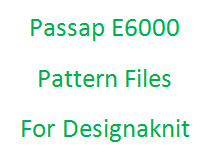 Passap E6000 Pattern Files For Designaknit