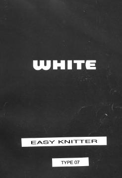 White Easy Knitter Instruction Manual