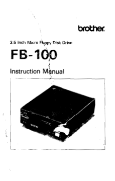 Brother FB100 Floppy Drive User Guide