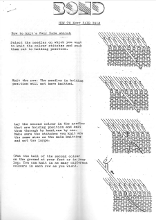 Bond How To Knit Fairisle