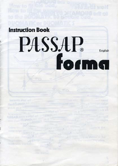 Passap Forma User Manual
