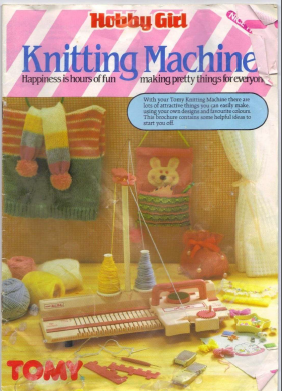Boxed tomy knitting machine hobby girl vintage 1980s model 2708.