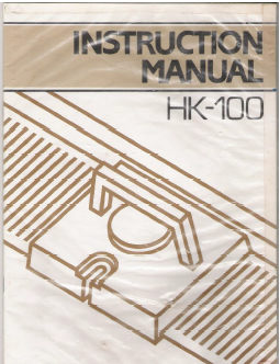 Singer HK100 Knitting Machine Instruction Manual