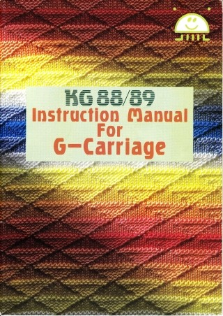 Brother KG88 and KG89 Garter Carriage User Guide