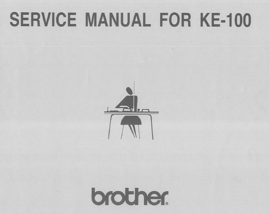 Brother KE100 Service Manual