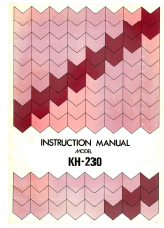 Brother KH230 User Guide Guide