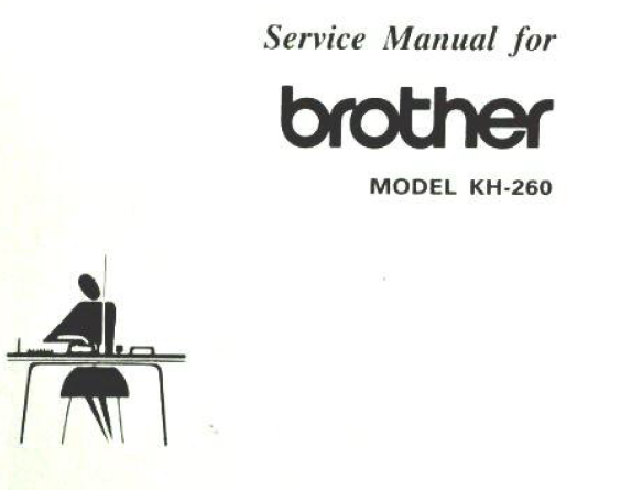 Brother KH260 Service Manual