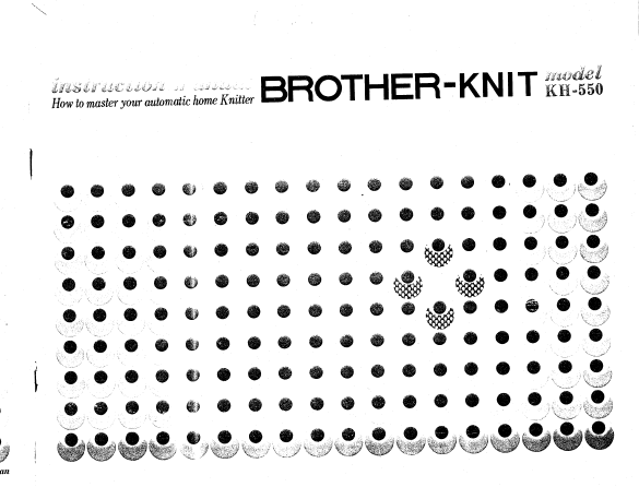 Brother KH550 User Guide Guide