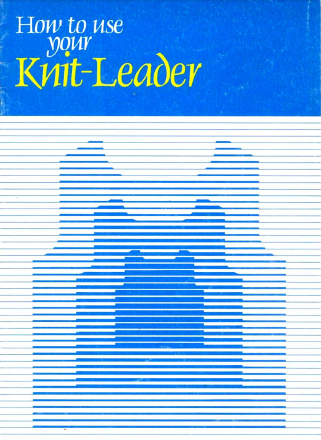 Brother KH881 Using Your Knitleader User Guide