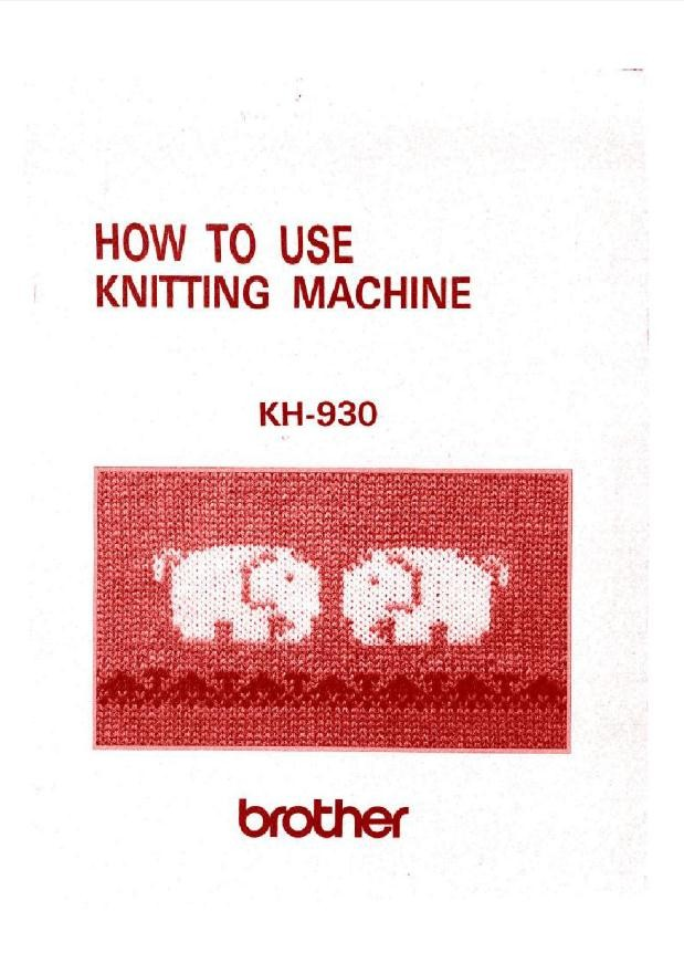 Brother KH930 User Guide