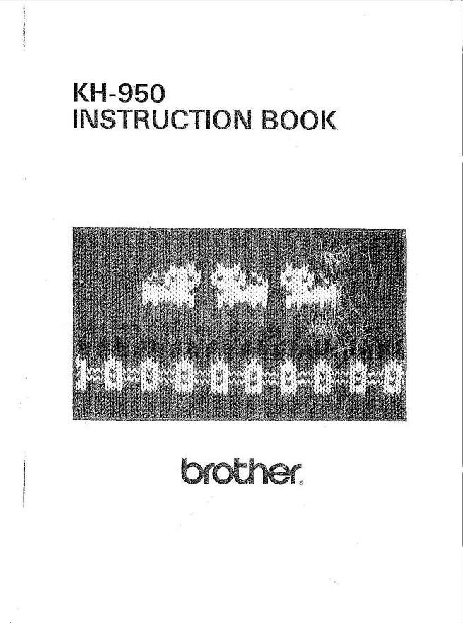 Brother KH950 User Guide