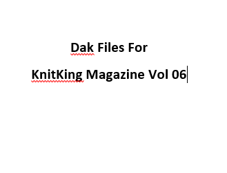 KnitKing Vol 06 Files for Designaknit