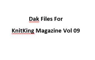 KnitKing Vol 09 Files for Designaknit