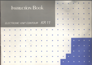 Silver Reed KR11 Knit Contour User Manual