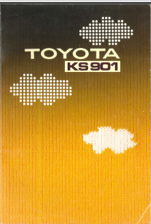 Toyota KS901 Knitting Machine User Manual