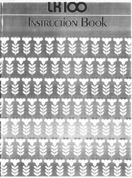 Singer LK100 Knitting Machine Instruction Manual