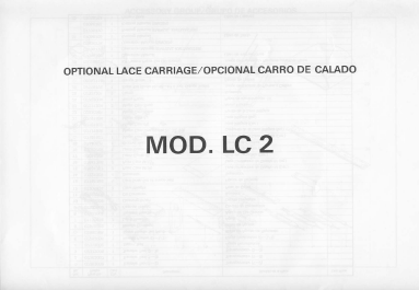 Knitmaster LC-2 Lace Carriage Knitting Machine Parts Manual