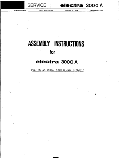 Passap 3000A Motor Setup Manual