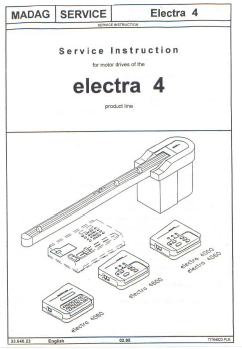 Passap 4600 EL4 Motor Service Manual for Passap Knitting Machine