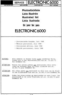 Passap E6000 Parts Manual