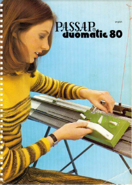 Passap Duomatic 80 User Manual