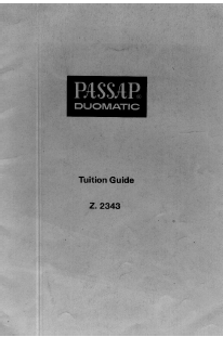 Passap Duomatic Tuition Guide