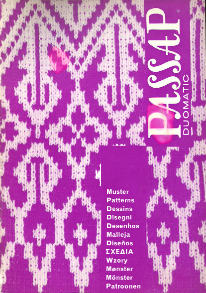 Passap Stitch Pattern Book #2 for  Duomatic and Passap 12