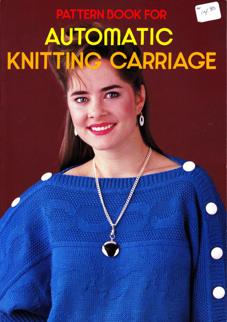 Brother Pattern Book for Automatic Knitting Carriage Book