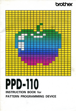 Brother PPD110 Patterning Device User Guide