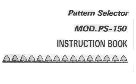 PS150 Needle Selector User Manual