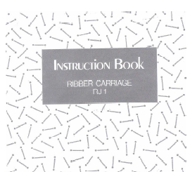 RJ1 Ribber Carriage User Manual