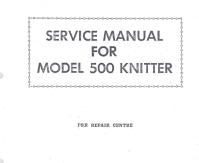 SK500 Knitting Machine Service Manual