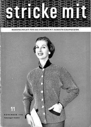 Stricke Mit 11-1956 Machine Knitting Magazine