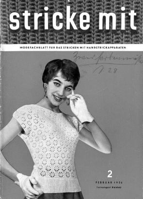 Stricke Mit 2-1956 Machine Knitting Magazine
