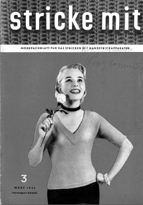 Stricke Mit 3-1956 Machine Knitting Magazine